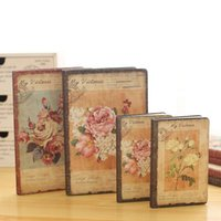 Wholesale Diary Book Flower - Wholesale- Flowering Dream Cloth Cover Notebook Creative European Vintage Diary Book School Painting Graffiti Notebooks Gifts Stationery