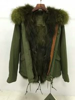 Wholesale Military Parka Fur Hood - Live pictures army green fur trim Mr & Mrs Furs Military Fox Fur lined army parka