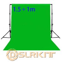 Wholesale Chromakey Green Screen Muslin - Wholesale- 1.5X1M Photo lighting studio Chromakey green screen Muslin background backdrop
