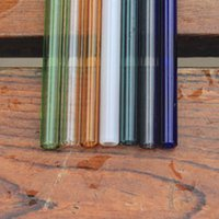 Wholesale Caliber Wholesale - colorful reusable glass drinking straws for bar accessories 7 color options 8mm Caliber wholesale glass drinking straws