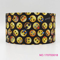 Wholesale Free Shipping Headband Rolls - ribbon 3inch 75mm 170703018 cartoon printed grosgrain ribbon 50yds roll free shipping for headband hair tie