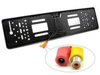 marco de dvd de coches al por mayor-cables de televisión impermeable DVD 1x 170 ° matrícula HD Europea auto del coche nuevo número de etiqueta de la UE Framerear aparcamiento vista de la cámara de copia de seguridad de visión nocturna