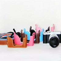 Wholesale A2 Leather - New Oil Leather For FujiFilm Fuji XM1 XA1 XA2 X-M1 X-A1 X-A2 Half Case Bag Body Set bottom Cover Easy Take Out of Battery