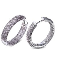 Wholesale Plants Allergies - Charms Fashion Hot Sale Hoop Earrings Made with AAA Cubic Zirconia Platinum Plated Free Allergy Lead Free