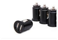 doppelkugel usb-port-autoaufladeeinheit großhandel-Universel bullet dual usb 2-Port mini sigarettenaansteker lader, 5 v 2.1a autolader netzteil kostenloser versand ladegerät