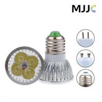 Wholesale Low Mr16 Led - LED Bulbs E27 GU10 MR16 4*3W 12V 220V Dimmable Warm Nature Cool White Light LED Spotlight Bulbs Low Power Comsumption