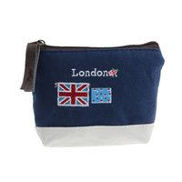Wholesale London Canvas Bag - Women Wallets 2016 London British Soldiers Stamps Canvas Coin Purse Admission Package Hand Bag Unisex Bags carteras mujer