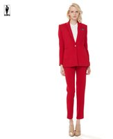 UR 85 Red Custom Made Bussiness Formal Elegant Women Suit Set Blazers And  Pants Office Suits Ladies Pants Suits Trouser Suits Handmade Hot