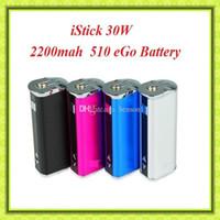 Wholesale Usb Battery Box - Eleaf istick 30W mod istick 30W battery With OLED Screen 2200mah VV VW box mod With USB Cable VS eleaf istick 10W 20W