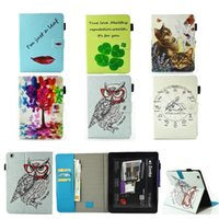 Wholesale Ipad4 Smart Cover New - Luxury New owl Red lips PU Leather Case With Card Slots For Apple iPad 2 3 4 Case Folio Stand Protector Skin For iPad4 9.7 inch