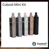 Wholesale battery circuits - Joyetech Cuboid Mini Kit With 80W Cuboid Mini Battery 2400mah New 0.25ohm Atomizer NotchCoil DL Head Dual Circuit Protection 100% Original
