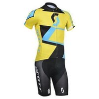 Wholesale Montain Bikes - 2015 Summer hot sale newest team scott cycling bike wear mens montain road bicycling wear compression short bib sets