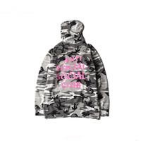 Wholesale Harajuku Hoodies - men camouflage anti social social club hoodie kanye west sweatshirt women harajuku skate hoodies streetwear casual pullover
