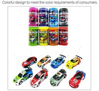 Hot Sale 1/63 Coke Can Mini RC Car Multi-color High Speed ​​Truck Radio Télécommande Micro Racing Vehicle Controle Electric Toys enfants Gift