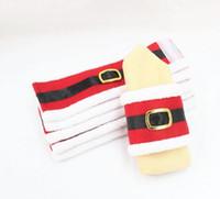 Wholesale Napkins Cartoon Decorations - Christmas Decoration napkin ring napkin cover table Decor decorations Christmas table decoration 2016 new hot napkin