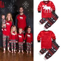 Wholesale Shop Kids Clothing Winter - Parent-child Clothing Set Shop 2PCS Suits Kids Spring Autumn Long Sleeve Baby Adult Family Pajamas Pyjamas Girls Homewear Kids Clothes
