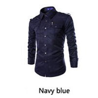 Wholesale Uniform Camp Shirts - Wholesale-Men's outdoor personality lapel badges long sleeved uv shirt stitching uniforms