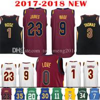 332e2895a Baseball Men Short 2017-18 New 9 Dwyane Wade 23 LeBron James Jersey 2018 0