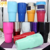 Wholesale Eco Pure - 30OZ Stainless Steel Tumbler Water Cups Two Layers Water Cups Large Capacity Thermos Beer Cup For Car Drinking Pure Color Mixed Colors