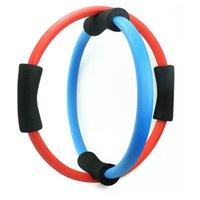 Wholesale Magic Circle Pilates Ring - Wholesale-Body Building Women Yoga Exercise Pilate Ring Gym Fitness Training Pilates Magic Yoga Circle Slimming Yoga Ring Tool