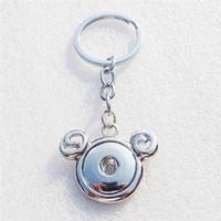 ingrosso ariete metalliche-12 pz / lotto Fashion zodiaco noosa pezzi di metallo zenzero 18mm snap button portachiavi ariete portachiavi 3.8 * 9 cm gioielli