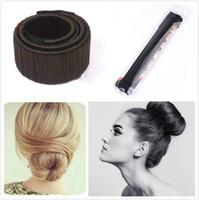 magische haarbänder großhandel-Frauen Brötchen Band Lockenwickler Perücke Donuts Haarband Französisch Magic Bun Maker für Braut Mode Mädchen