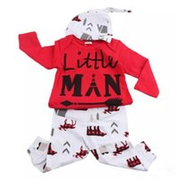 Wholesale American Style Hats For Children - Ins Hot Christmas Long Sleeve Baby Girl Boutique Clothing Sets Casual Children Tracksuits With Hat For Fall B11