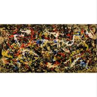pinturas al óleo de monos enmarcados al por mayor-Pintura al óleo pintada a mano pura pintada a mano del arte del graffiti Jackson Pollock, arte casero de la pared Decro en la lona gruesa de alta calidad multi tamaños