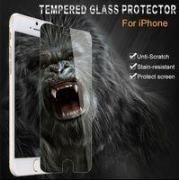 iphone açık ön cam toptan satış-Darbeye Temperli Cam Ekran Koruyucu Kapak Apple iphone 4 s 5 s 5c 6 6 s 7 Artı Takviyeli Ön Filmi Temizle Aşırı Korumak