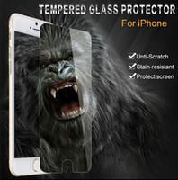 iphone klares frontglas großhandel-Stoßfest gehärtetes glas displayschutzfolie abdeckung für apple iphone 4s 5s 5c 6 6s 7 plus verstärkte frontfolie klar extreme schützen