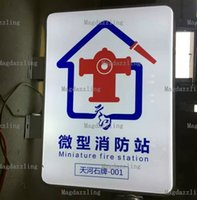 Wholesale Blank Signs - Blank Rectangular LED Illuminating Projecting Outdoor Light Box Sign For Sidewalk Advertising