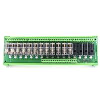 röle plc toptan satış-DC24V 16 Kanal OMRON Röle Modülü PLC Amplifikatör Kurulu 16 Yol Röle Modülü TNKG2R-1E-K1624