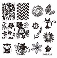 Wholesale Steel Art Stamp - New Arrival 6.2cm square, 32 styles number,steel sex image plate stamping printer stamp nail art templates steelseries DIY
