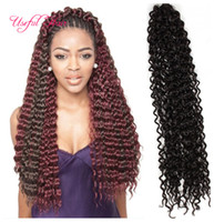 Wholesale latch hook wholesale - 20inch Freetress hair Water Wave blonde extensions Black,brown Bulk Crochet Latch Hook Braiding Hair synthetic Crochet hair Extensions