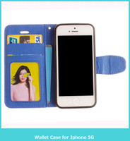 Wholesale Magnetic Photo Holders Wholesale - Hot Wallet Case For Apple iPhone 5 5S 5G  iphone SE Magnetic Flip PU Leather Case with Photo Frame Card Holder Smart Stand Cover