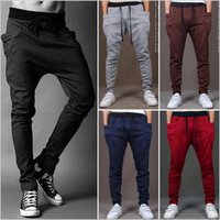 Wholesale Boys Sweat Pants Xl - Men Joggers Sports Pants Fashion Sweat Pants Basketball Sport Jogging Pants Baggy harem pants Hip Hop Gym Jogger Dance Slacks for boy