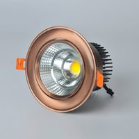 Wholesale led glass downlight price for sale - Group buy Factory price Dimmable W Led Downlights15W AC110V AC220V COB LED Ceiling Downlight Lamps Led Down light Lamp Warm Cold White