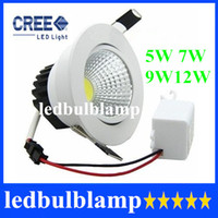 5W 7W 9W 12W Yes LED Newest 5W 7W 9W 12W COB Led Downlight Dimmable Recessed Led Ceiling Light White Shell High Lumen For Home Light AC 110-240V
