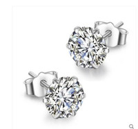 Wholesale Korea White Gold Earrings 14k - 925 ms tremella nail male temperament of South Korea Europe and the United States allergy free earrings silver