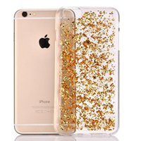 Ultra Thin Gold Bling Paillette Sequin Skin Clear Tampa da capa TPU para iPhone 8 7 Plus SE 5 5S 6 6S Samsung S6 S7 Edge Note 5 100pcs
