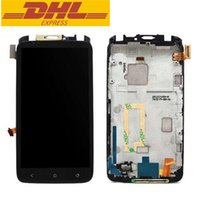 Wholesale One X Display - High Quality LCD Display Touch Screen With Digitizer Assembly For HTC One X S720E G23 With Frame Replacement Part DHL Free Shipping