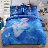 Wholesale Beautiful Quilt Covers - Digital 3D Bed Supplies Princess Pattern Beautiful Bed Sheets Quilt Cover And Pillow Case Wholesale 4pcs