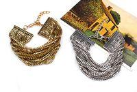 Wholesale Oro Jewelry - 2016 hot sale Charm Chain Gold Bracelets Jewelry,jewelry for women oro pulseras mujer,boho Multilayer bracelet pulseras pulseira