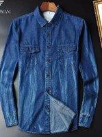 Wholesale Denim Shirt Mens - 2016 spring Autumn new design Mens long sleeve denim shirt casual shirts high quality brand fashionable men shirt fashion man clothes