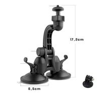 Wholesale Hero Suction - Gopro Accessories Car Double Sucker Holder Mount Suction Cup Bracket for GoPro Hero SJ4000 SJ5000 Mini Camcorder Action Camera DVR