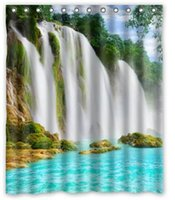 Wholesale Waterfalls Rivers Nature Custom Fashion Waterproof Fabric Bath Shower Curtain x180cm Size