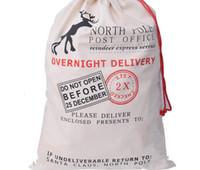 Wholesale Organic Cotton Gifts - Christmas Gift Bags 2016 New 20 pcs lot Large Canvas Santa Sack Color Elk Organic Heavy Canvas Black Drawstring Bag buggy bag