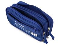 casos de lápis azul venda por atacado-Saco da caixa do caso do lápis do zíper - malote azul do armazenamento da pena do estudante das crianças de Multifunction do azul - material de escritório da escola