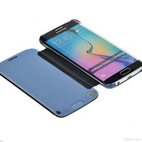 Wholesale Green Shell Mirror - Samsung Galaxy S6 G9200 S6 Edge Funda Case Smart Protector Shell View Window Clear Transparent UV Mirror Case Filp Leather Cover Housing Bag