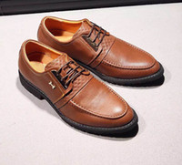 Wholesale Hot New Lace Up Shoes - hot sell new handmade genuine leather brand lace up men dress shoes evening wedding oxford party dress shoes size 38-44